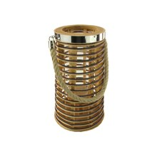 "12.75"" Rustic Chic Rattan Candle Holder Lantern"