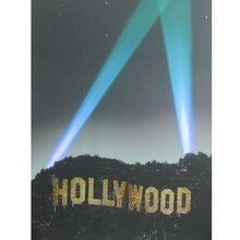 LED Lighted Hollywood Sign with Spot Lights Wall Art