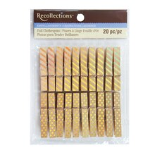 Medium Gold Clothespins By Recollections