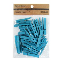 Craft It Turquoise Medium Clothespins By Recollections