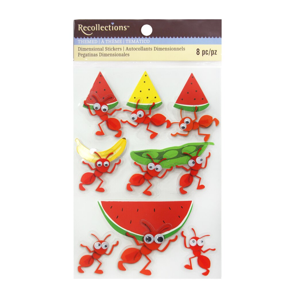 Buy the Ant Picnic Dimensional Stickers By Recollections™ at Michaels