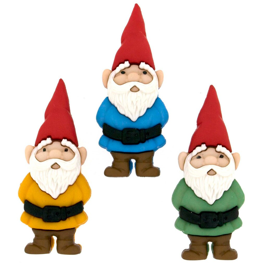 Gnome Garden: Buy The Dress It Up® Buttons, Garden Gnomes At Michaels