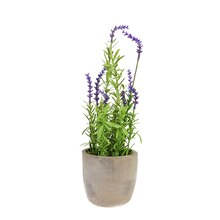 "14"" Artificial Potted Lavender"