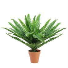 "18.5"" Potted Artificial Green Boston Fern Plant"