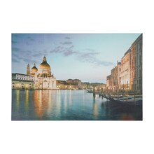 LED Lighted Venice City Italy Sunset Wall Art