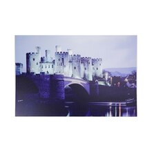 LED Lighted Conwy Castle in Wales Canvas Wall Art