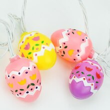 Set of 10 Multicolor Pastel Easter Egg Spring Holiday Lights