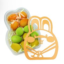 Set of 12 Orange, Green and Yellow Spring Easter Egg Ornaments