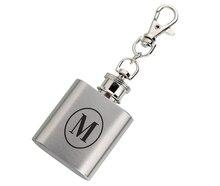 Lillian Rose Monogrammed Mini Flask, M