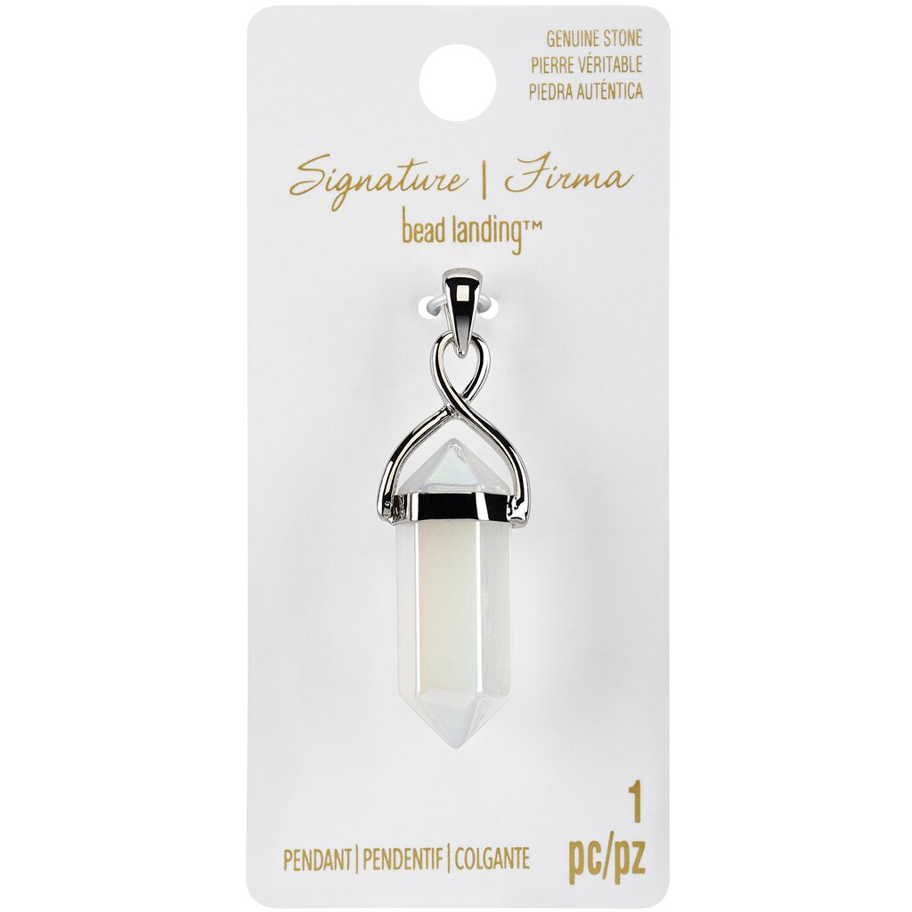 Shop for the signature sedona white ab quartz point pendant by bead signature sedona white ab quartz point pendant by bead landing mozeypictures Image collections