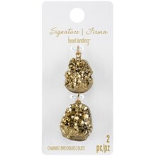 Signature Sedona Gold Druzy Charms By Bead Landing