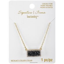 Signature Sedona Black Druzy Bar Necklace By Bead Landing