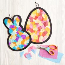 Kids Club® Tissue Paper Stained Glass Easter Icons, medium