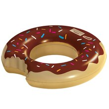 Chocolate Doughnut Inflatable Pool Float By Creatology