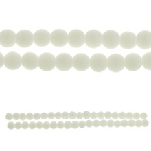 Bead Gallery Round Glass Beads, Opaque White Close Up