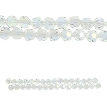 Bead Gallery Crystal Faceted Rondelle Glass Beads Close Up