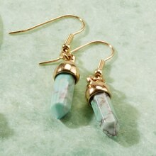 Turquoise Drop Earrings, medium
