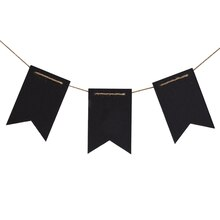 Black Fishtail Chalkboard Banner By Recollections