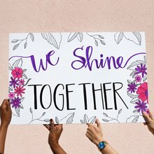 """We Shine Together"" Poster, medium"