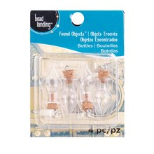 Found Objects Mini Clear Bottles By Bead Landing