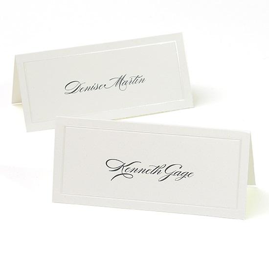 gartner studios pearl ivory border place cards