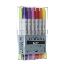 Copic Ciao Marker Set, 12 Color Basic