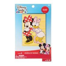 Darice Disney Family Crafts Sparkle By Number Kit, Minnie & Daisy Package