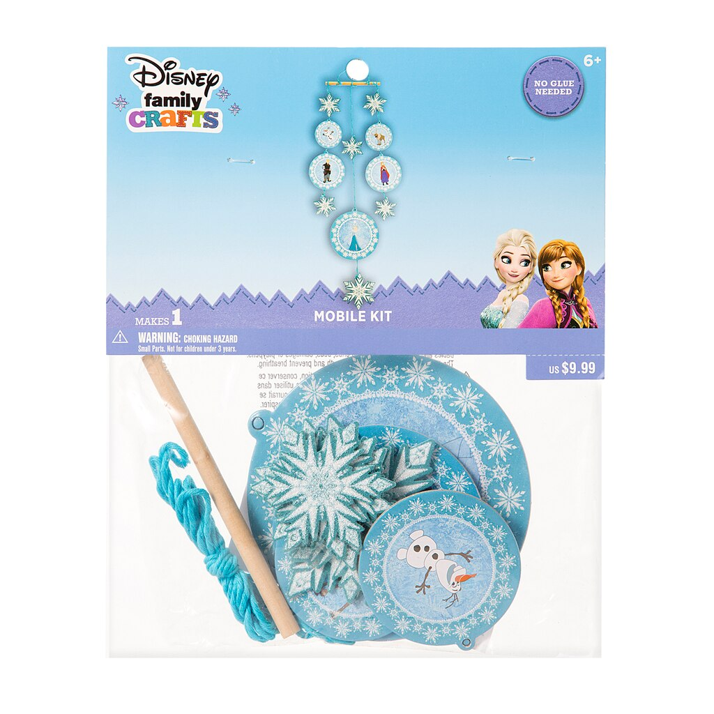 Find the ©Disney Family Crafts Mobile Kit, Frozen at Michaels - photo#2