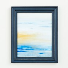 Catalina Abstract Sunset Painting, medium