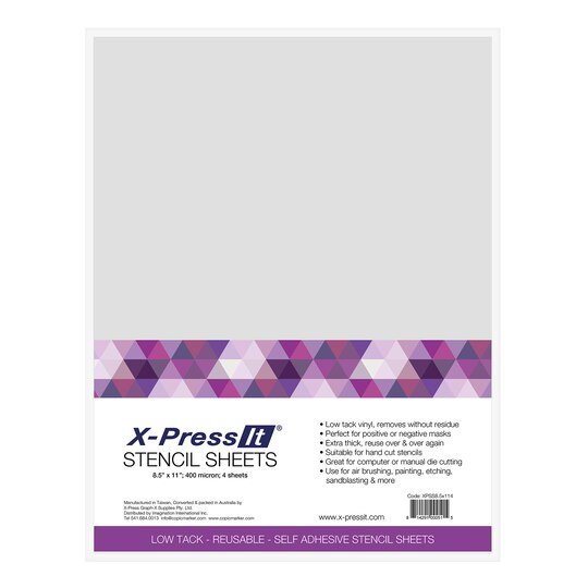 X press it stencil sheets 8 5 x 11