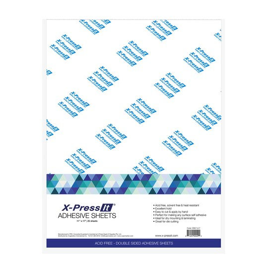 X press it double sided adhesive sheet high tack 11 x 17