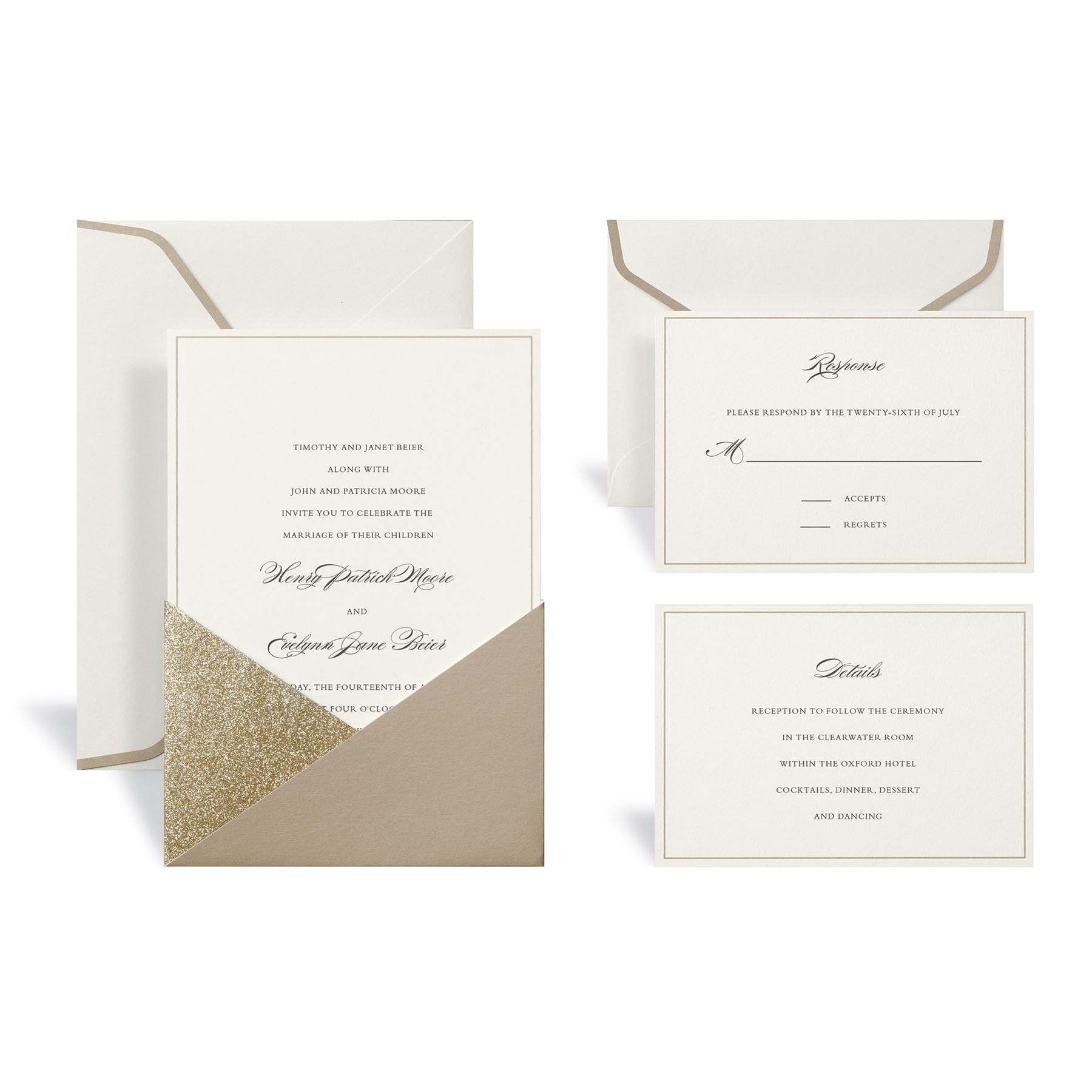 Shop for the Gold Wedding Invitation Kit By Celebrate It at Michaels