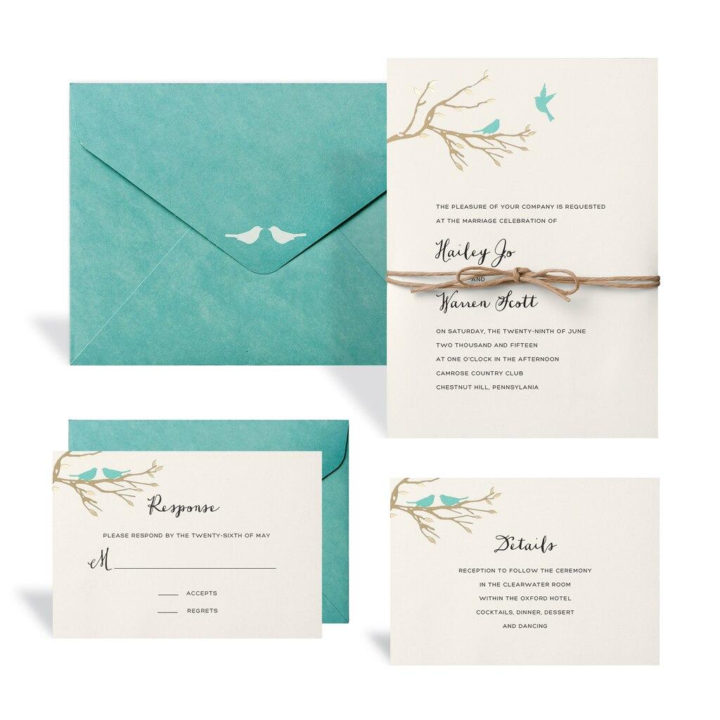 Buy The Love Birds Wedding Invitation Kit By Celebrate It