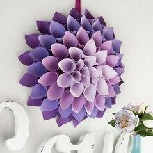 Dahlia Paper Wreath, medium