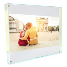 "Acrylic Block Frame by Studio Décor, 8"" x 10"", with image"