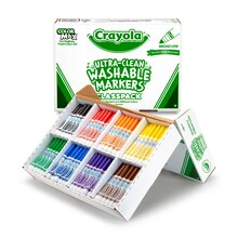 Crayola Washable Formula Markers Classpack, 200 Count Contents