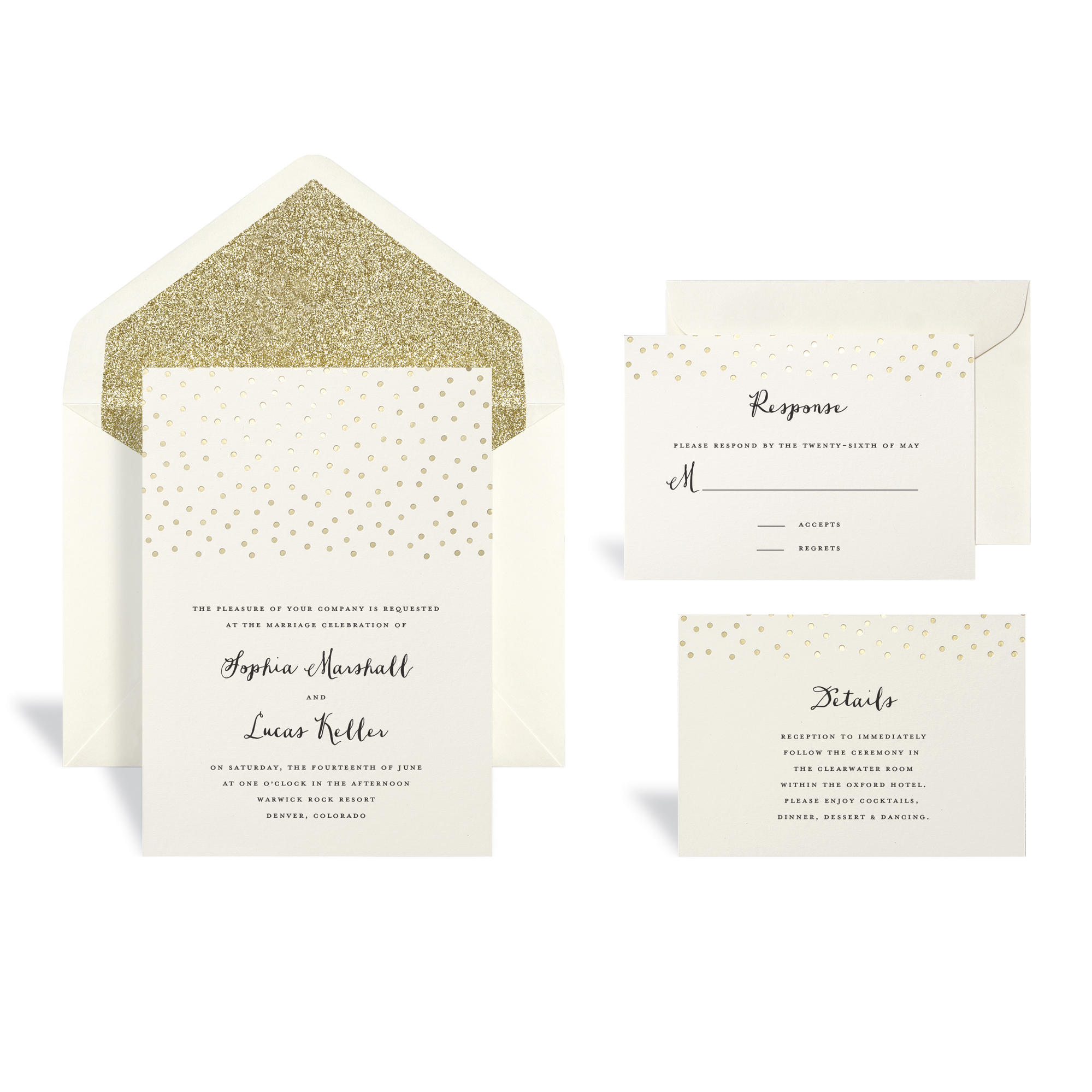 Gold Dot Wedding Invitation Kit By Celebrate It™