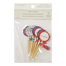 Red, White & Blue Treat Toppers By Celebrate It