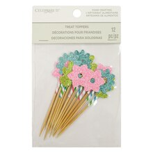 Bright Floral Treat Toppers By Celebrate It