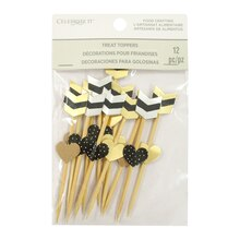 Black & Gold Arrow Treat Toppers By Celebrate It