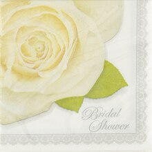 Wedding Roses Bridal Shower Cocktail Napkins, 16ct