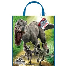 "13"" x 11"" Large Plastic Jurassic World Goodie Bags, 12ct"