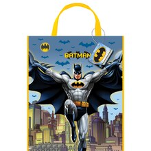 "13"" x 11"" Large Plastic Batman Goodie Bags, 12ct"