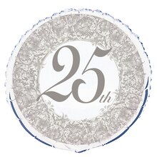 Foil 25th Anniversary Balloon, 18""