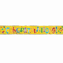 Foil Congratulations Banner, 12 Ft.