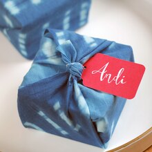 Shibori Place Cards Party Favors, medium