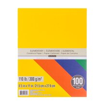 Elementary Cardstock Paper Value Pack By Recollections