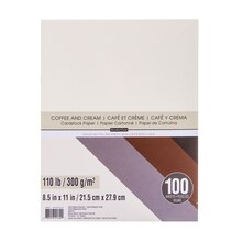 Coffee & Cream Cardstock Paper Value Pack By Recollections