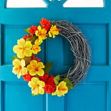 Water-Resistant Hot-Colored Wreath, medium