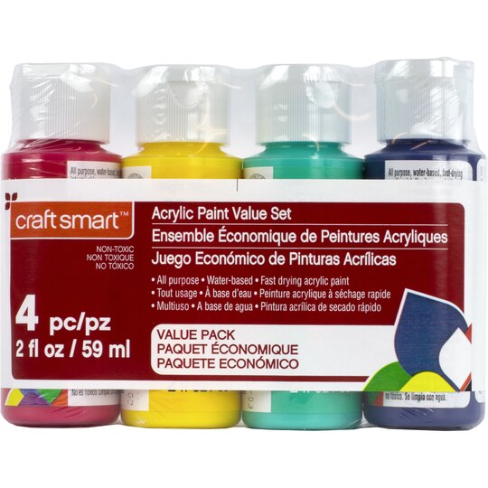 Find the primary acrylic paint value set by craft smart for Craft smart acrylic paint